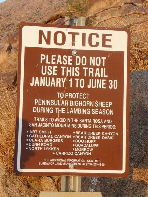 Closures on Skyline Trail