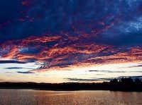 Sunset On Flagstaff Lake
