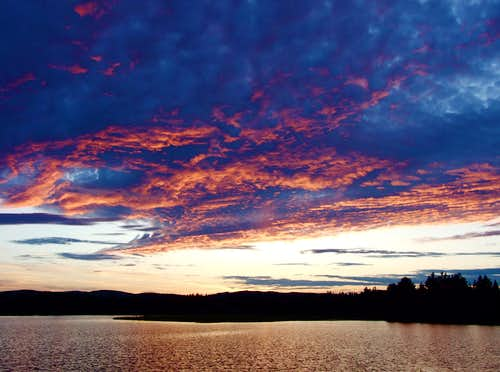 Sunset On Flagstaff Lake