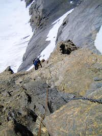 Abseiling from Clariden