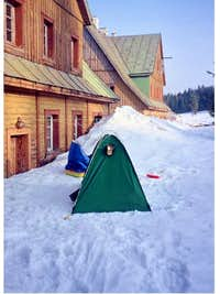 A winter camp...