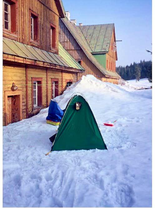 A winter camp...