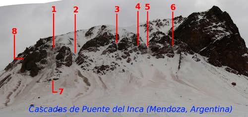 Ice-falls in Puente del Inca