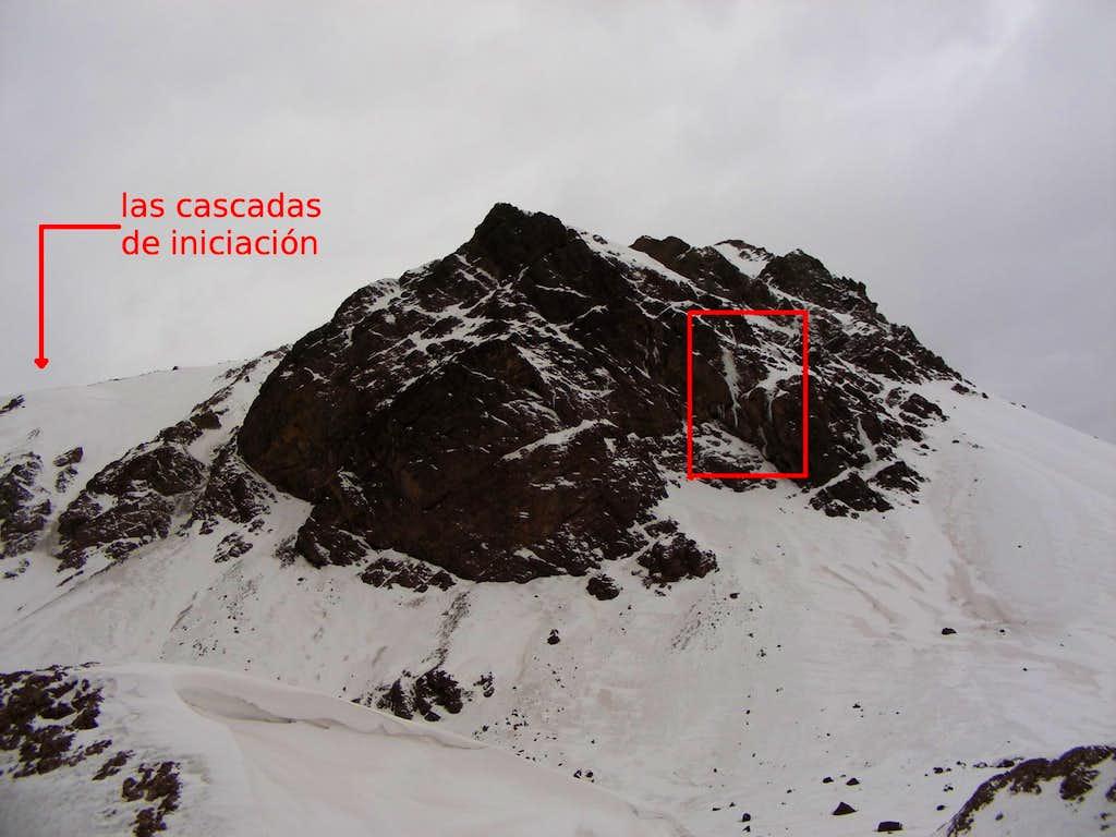 Hard mixed climbing in Puente del Inca (Argentina)