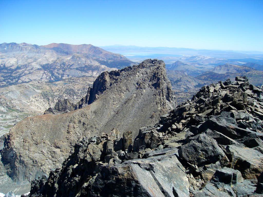 Banner Peak's upper slopes