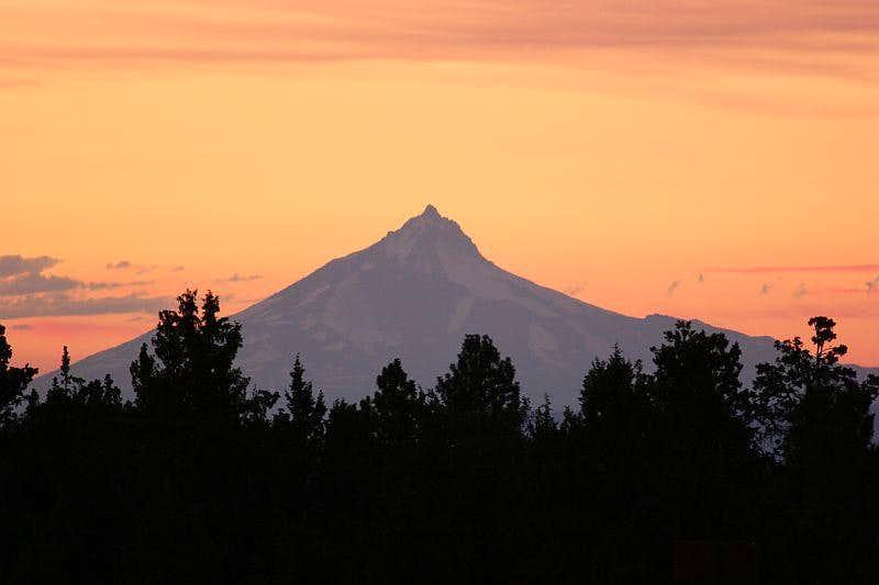 Mt. Jefferson on a summer eve
