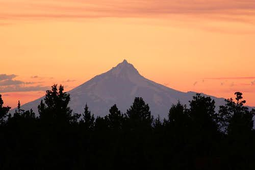 Mt. Jefferson on a summer eve