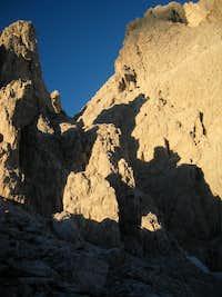Twilight on Dolomite Rock