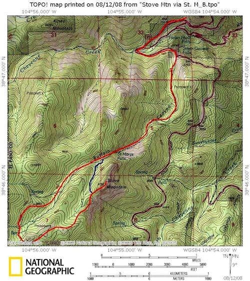 Stove Mountain via St. Mary's Trail-Buffalo Canyon
