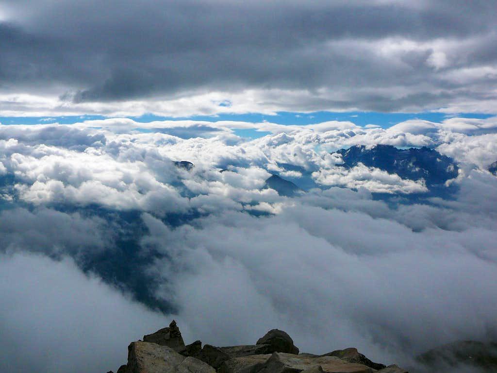 Clouds around the Eggishorn