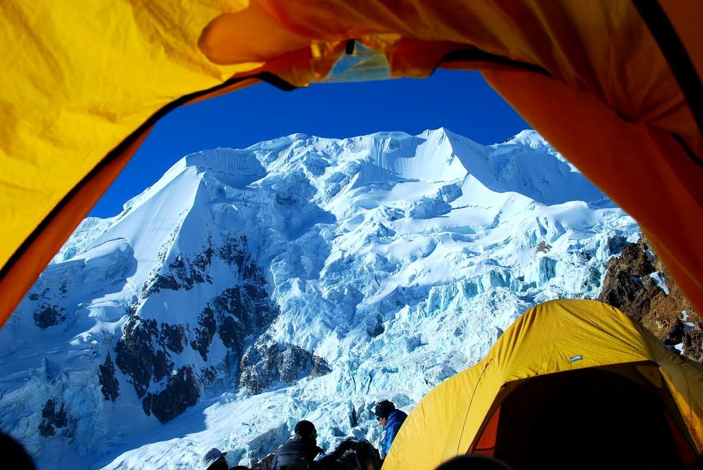 Illimani high camp view