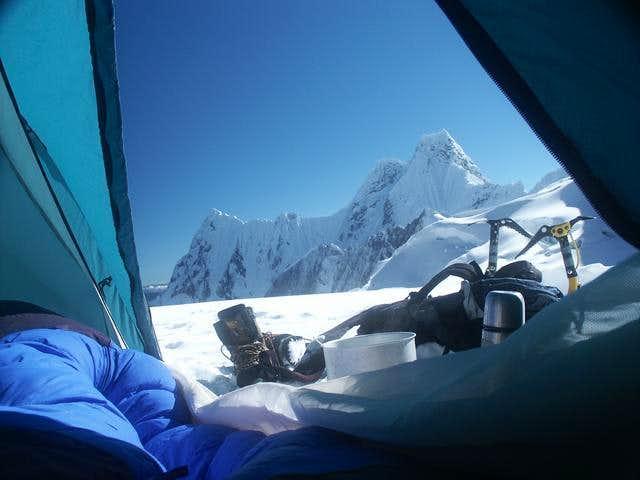 Nevado Jirishanca seen from...