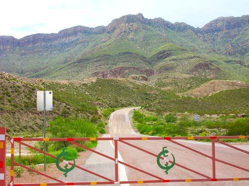 mouth of McKelligon Canyon