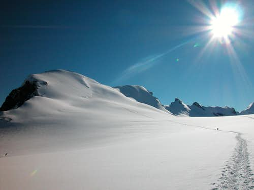 The way to Breithorn