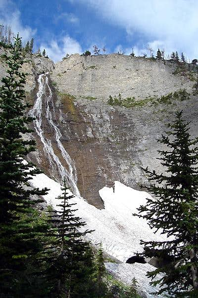 Waterfall coming from Our Lake