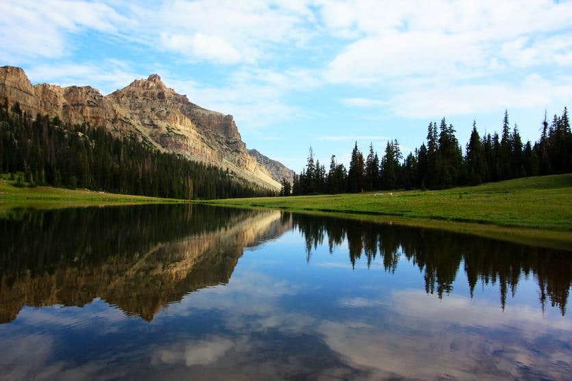 View down the lake--