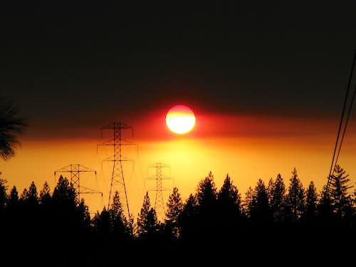California Fires Sunset