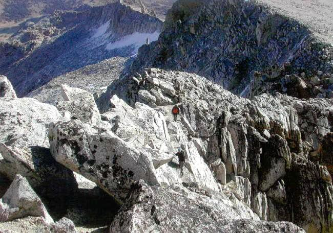 2 climbers on the East Ridge...