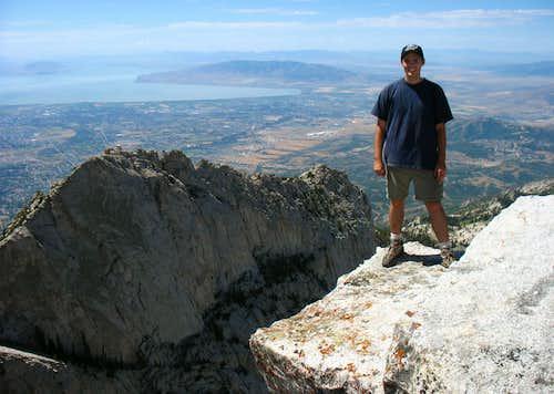 Brandon on Lone Peak Summit