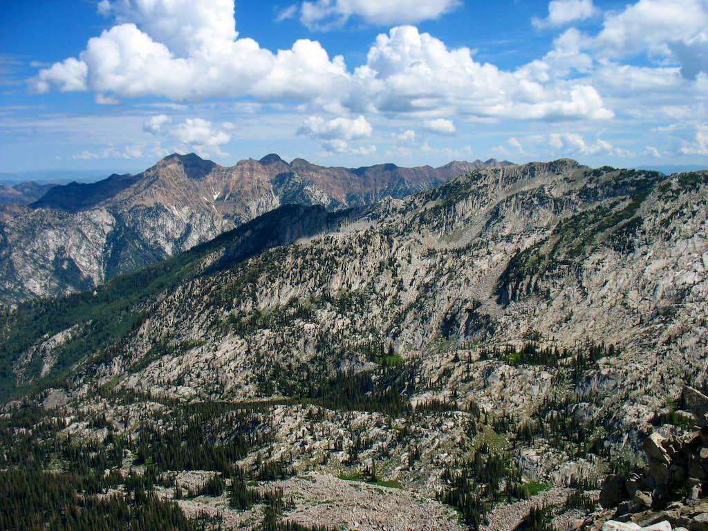 Cottonwood Ridge from Lone Peak