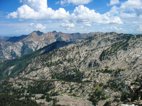 Cottonwood Ridge from Lone Peak