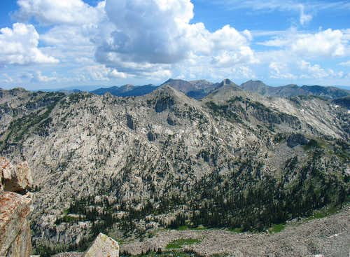 Thunder Mountain from Lone Peak