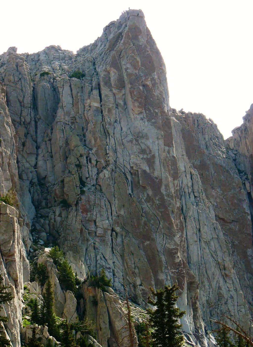 Lone Peak summit walls