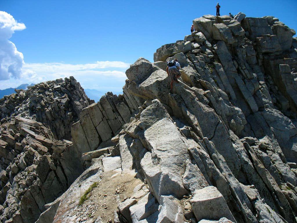 Lone Peak crux