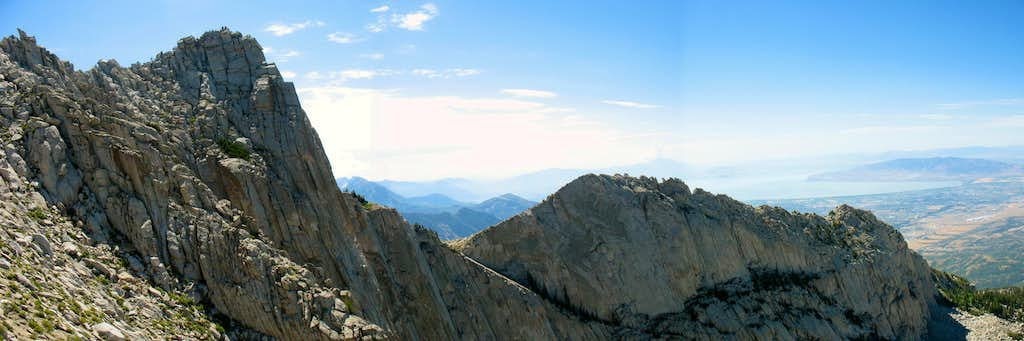 Lone Peak and Question Mark Wall