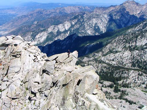 Lone Peak ridge scramble