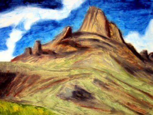 Wetterhorn Peak. An original...