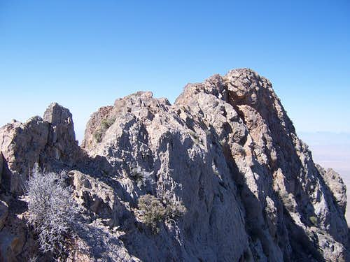 last section before the summit