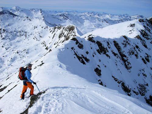 northwest ridge of Piz Piot 3053m