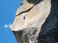 Getting to the 2nd bolt on CK arete