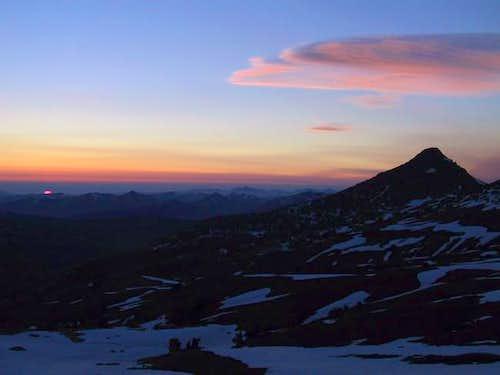 Sunset lit cloud formation...