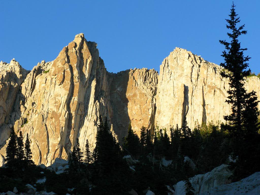 Summit and South Summit walls
