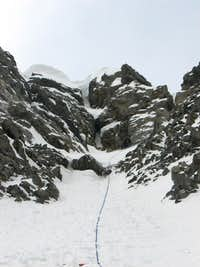 Couloir at the top of NF Direct