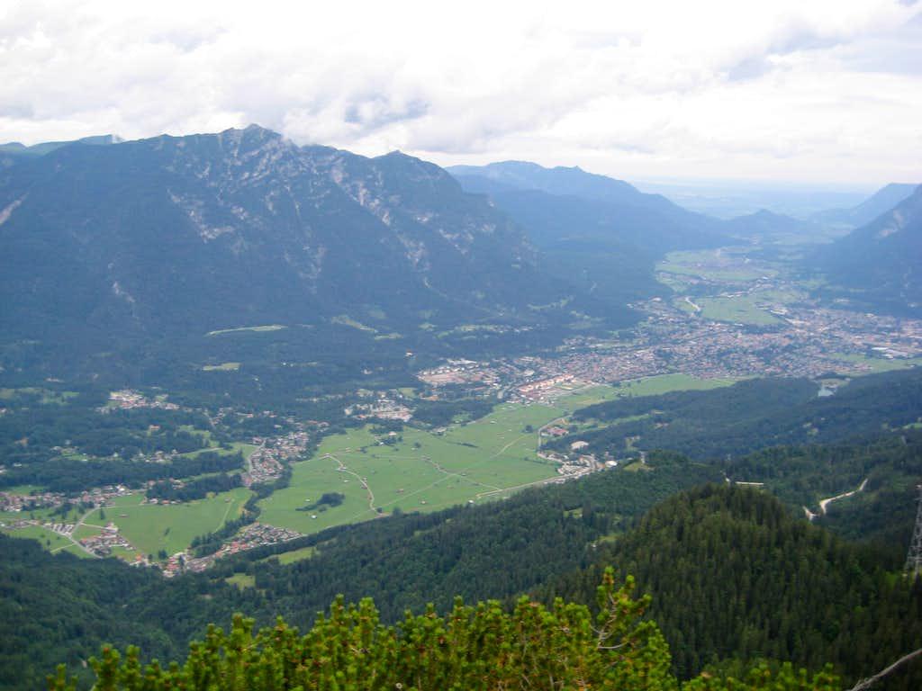 View of Garmisch-Partenkirchen from Schwarzenkopf