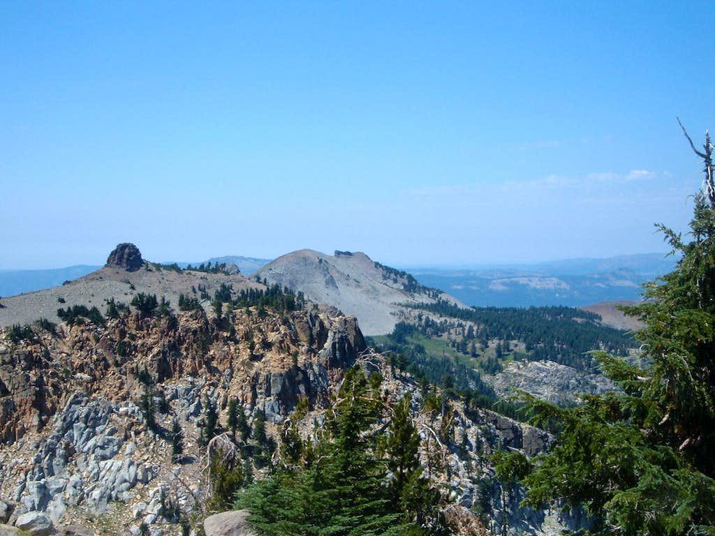 Needle Peak and Lyon Peak