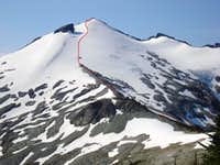 Ridge and Glacier leading to Ruth Mnt