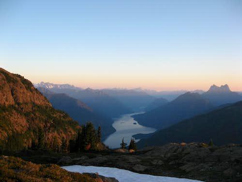 Sunrise above Ross Lake
