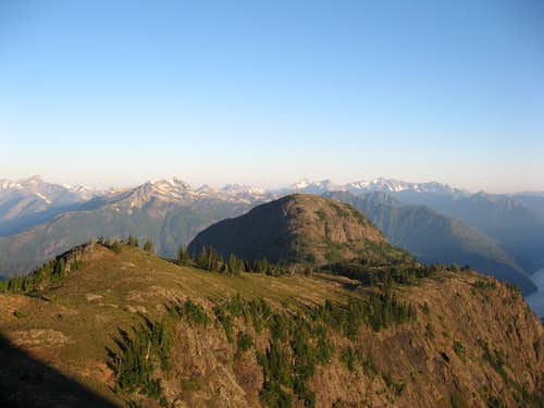 Looking back on the lower North Ridge of Jack Mt.