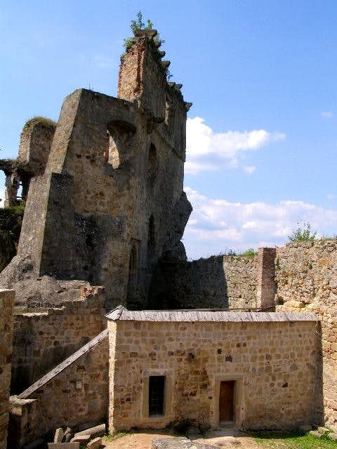 View of Kamieniec Castle\'s Chapel and Wall