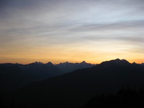 Sunset from camp on Jack Mt.