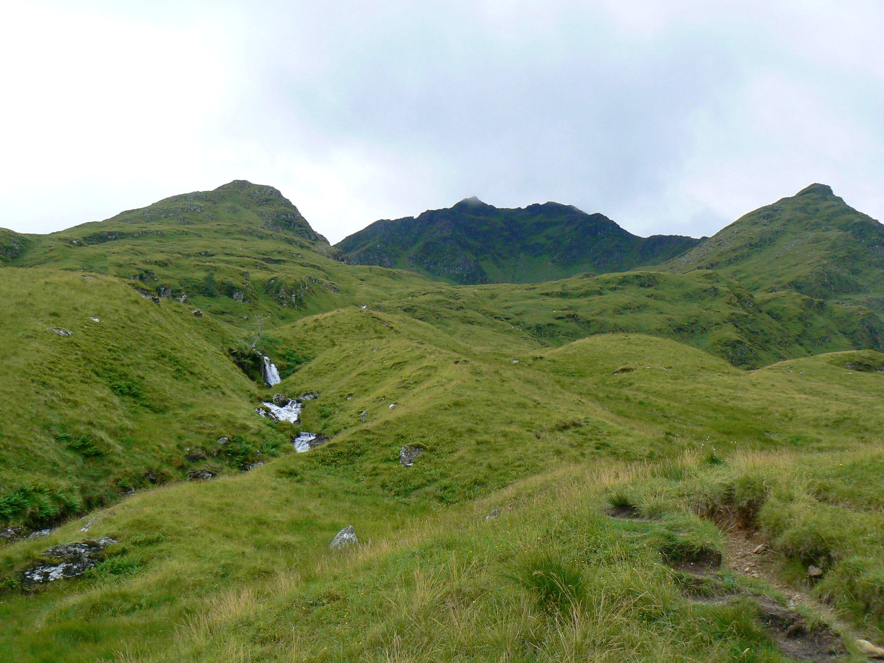 Via Glen Cononish (Gully to ridge of Stob Garbh)