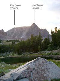 From Alp Lake looking at the...