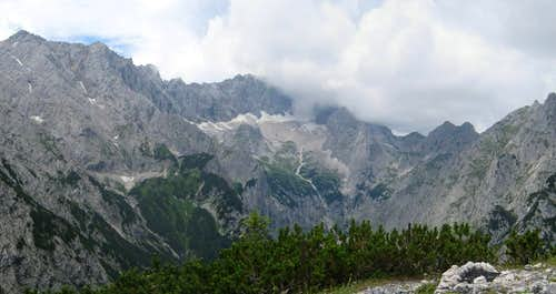 View up the Hollental from Schwarzenkopf