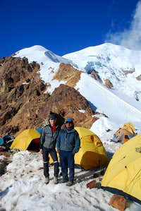 Bernardo & me at Illimani high camp