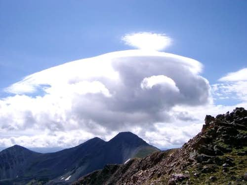 Looking south from Imp Peak -...