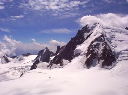 View of Mont Blanc du Tacul's...